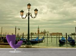 Fototapet, Felinar pe fundalul Canalului venețian