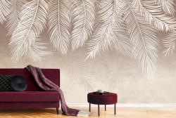 Fototapet, Frunze de palmier bej