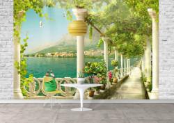 Fototapet, O Priveliște minunată la balcon