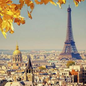 Fototapet, Parisul în culori vii
