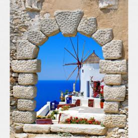Fototapet, Priveliște din fereastră