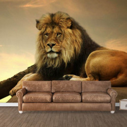 Fototapet, Regele leu