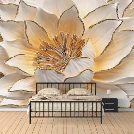 Fototapete 3D, Floare albă înfloritoare