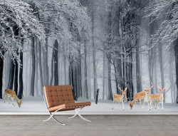Fototapete, Pădurea de iarnă