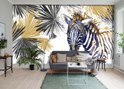Fototapete, Zebră abstractă pe fond alb