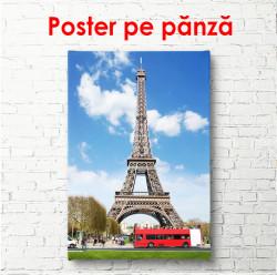 Poster, Autobuz roșu și Turnul Eiffel