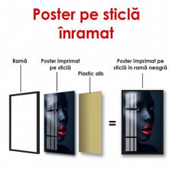 Poster, Femeie cu buze roșii