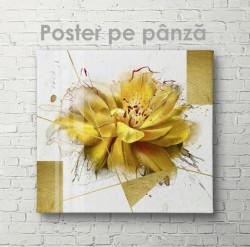 Poster, Floare galbenă strălucitoare