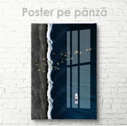 Poster, Iaht în marea albastră