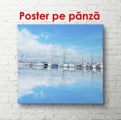 Poster, Marea albastră cu yahturi