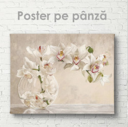 Poster, Orhidee într-o vază de sticlă