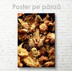 Poster, Pisoi drăguț cu fluturaș