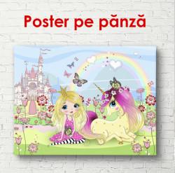 Poster, Prințesa cu unicorn