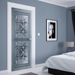 Stickerele decorative, pentru uși, Un seif din metal, 1 foaie de 80 x 200 cm