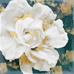 Tablou, Floare albă cu elemente aurii