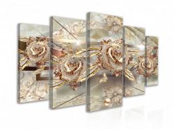 Tablou modular, Pietre prețioase pe mătase 1