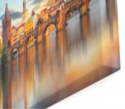 Tablou modular, Podul la apus