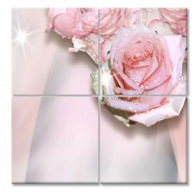 Tablou modular, Trandafirul roz delicat