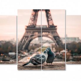 Tablou modulare, Porumbeii îndrăgostiți.