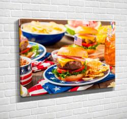 Tablouri Canvas, Mâncare Amercană