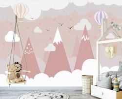 Tapet foto pentru copii, Munții roz