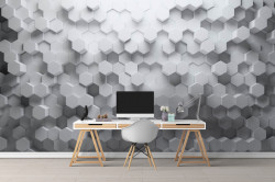 Fototapet 3D, Textură hexagonală