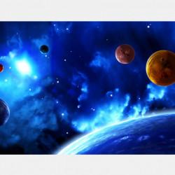 Fototapet Astronomie, Galaxie albastră