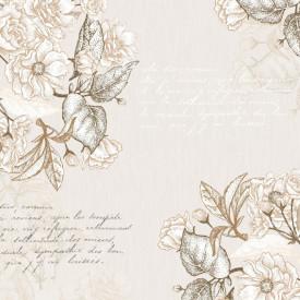Fototapet, Flori de primăvară tandre pe un fundal bej