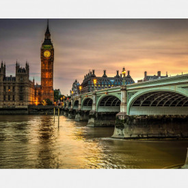 Fototapet, Londra, culori vii