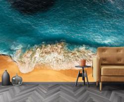 Fototapet, Nisip auriu și mare albastră
