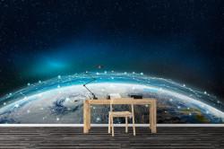 Fototapet, Pământul în spațiu