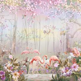 Fototapet, Parcul magic cu flăcări roz