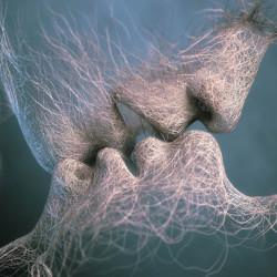Fototapet, Sărutul