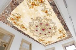 Fototapet, Tavanul auriu cu modele pictate