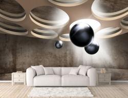 Fototapete 3D, Baloane în aer în spațiul 3D