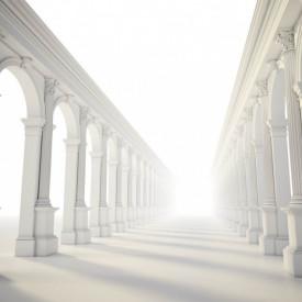 Fototapete 3D, Tunel cu coloane grecești