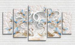 Multicanvas, Bujorul alb pe un fundal alb
