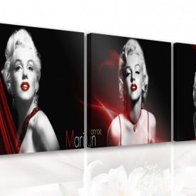 Multicanvas, Marilyn Monroe pe un fond negru