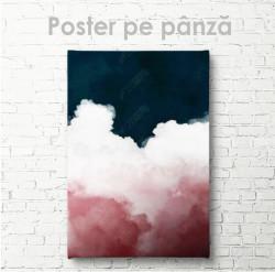 Poster, Apă albastră și nori roz
