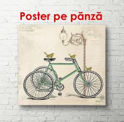 Poster, Bicicleta pe un fundal bej