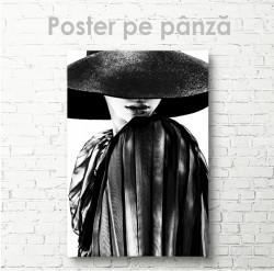 Poster, Doamnă în pălărie neagră