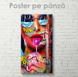 Poster, Fata cu chupa-cups
