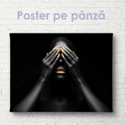 Poster, Fată neagră cu buze aurii