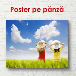 Poster, Fete pe câmpul într-o zi însorită