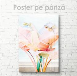 Poster, Floare strălucitoarePoster, Frunze roz