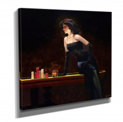 Poster, Lady în rochie neagră