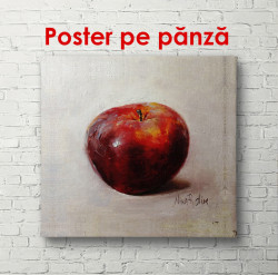 Poster, Mărul roșu pe o masă albă