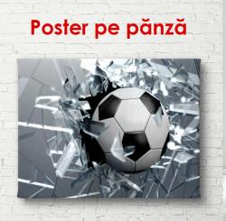 Poster, Mingea de fotbal pe un fundal gri