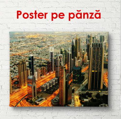 Poster, Vedere de sus a zgârie-nori