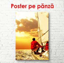 Poster, Yacht la apusul soarelui